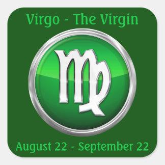 Virgo - la muestra del horóscopo de la Virgen Pegatina Cuadrada