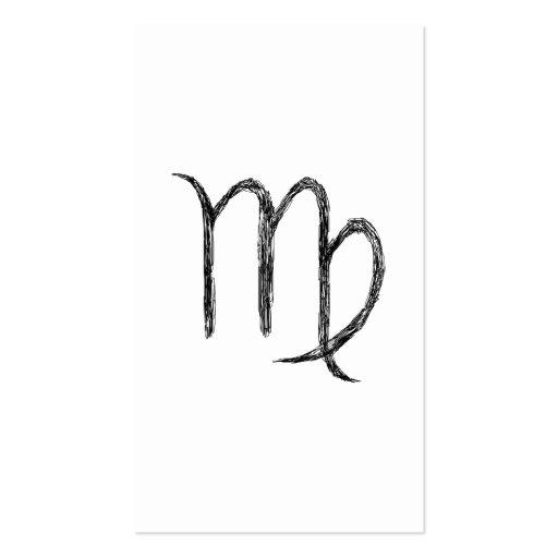Virgo. Muestra astrológica del zodiaco Tarjetas De Negocios