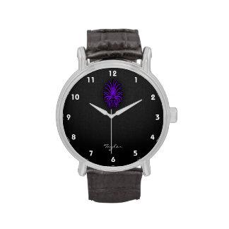 Virgo púrpura violeta relojes de pulsera