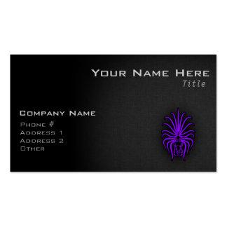 Virgo púrpura violeta tarjetas de visita