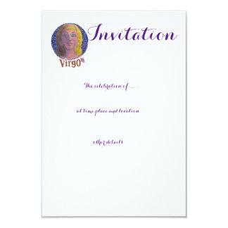 Virgo - tarjeta de la invitación del zodiaco