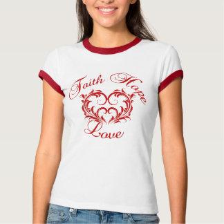 Virtures cristiano:  Amor de la esperanza de la fe Camisetas