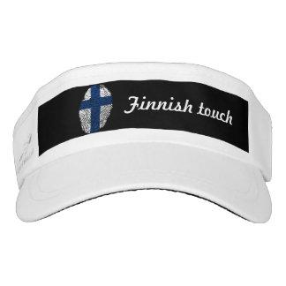 Visera Bandera finlandesa de la huella dactilar del tacto