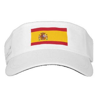 Visera español del blanco de la bandera visera