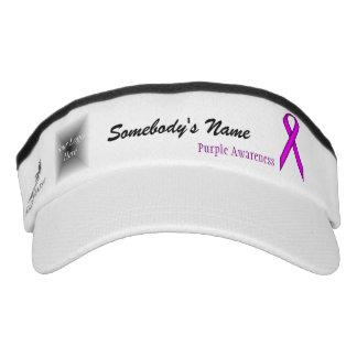 Visera Plantilla estándar púrpura de la cinta