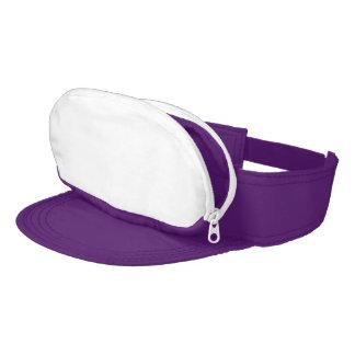Visera púrpura eléctrico del Casquillo-saco
