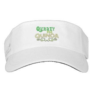 Visera Qurazy para el © de la quinoa - lema divertido de