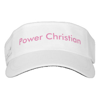 Visera tejido personalizado - cristiano del poder visera
