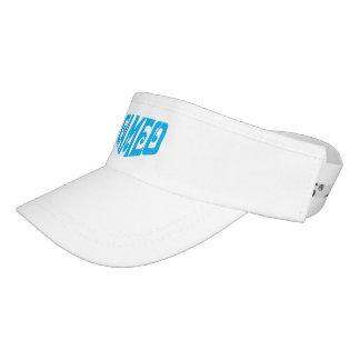 Visera Visera blanco con el logotipo azul del camafeo
