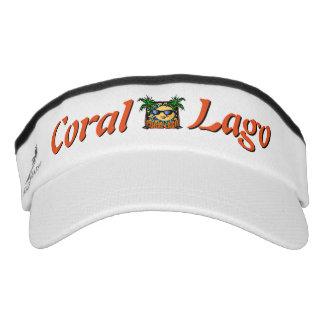Visera Visera coralino del logotipo de Lago
