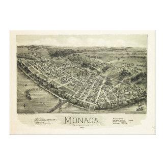 Visión aérea si Monaca, Pennsylvania (1900) Lienzo