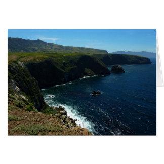 Visión desde la isla de Santa Cruz en las Islas Tarjeta De Felicitación