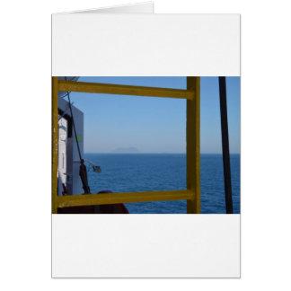 Visión desde una nave tarjeta de felicitación