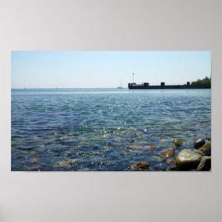 Visión hacia el mar de Mármara de la playa Posters