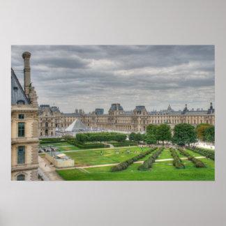 Visión panorámica Musee du Louvre Impresiones