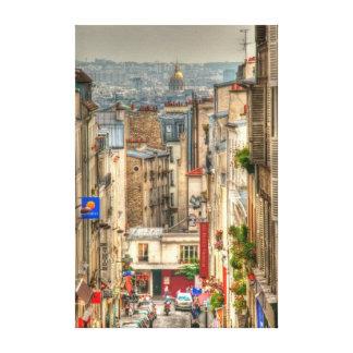 Visión parisiense impresiones en lona estiradas