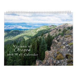 Visiones del calendario 2018 de Oregon