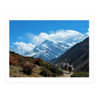 Visiónes desde Nepal en manera al MONTE EVEREST Postal