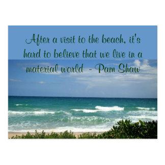 visita a la postal de la playa