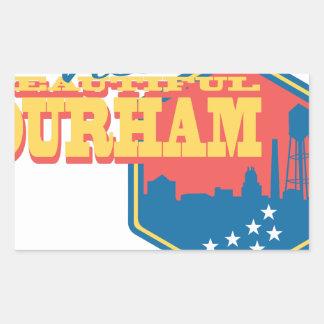Visita Durham hermoso Pegatina Rectangular