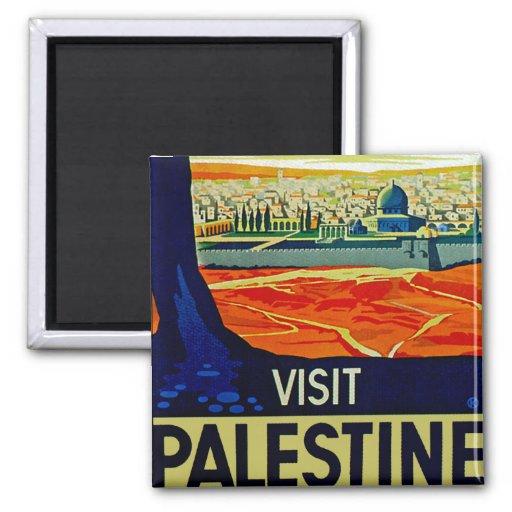 Visita Palestina Imán De Frigorifico