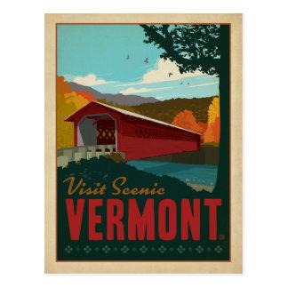 Visita Vermont escénico Postal
