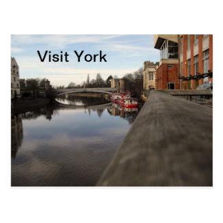 Visita York Tarjeta Postal