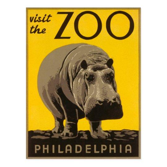 Visite el hipopótamo de Philadelphia del parque Postal