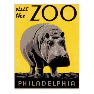 Visite el parque zoológico postal