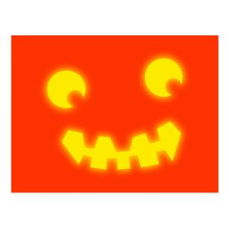 Víspera de todos los santos cara de calabaza pumpk postales