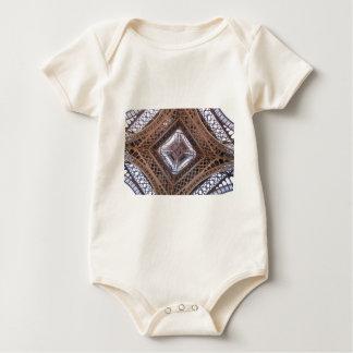Vista abstracta de la torre Eiffel Body Para Bebé