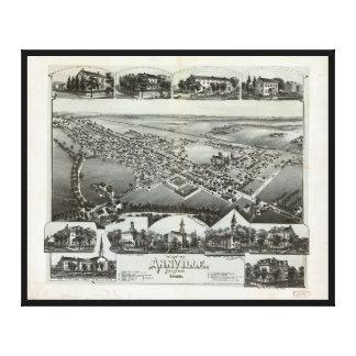 Vista aérea de Annville, Pennsylvania (1888) Lienzo