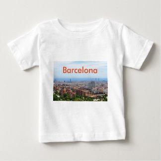 Vista aérea de Barcelona, España Camiseta De Bebé