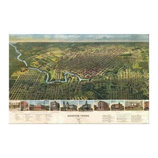 Vista aérea de Houston, Tejas (1891) Impresión En Lienzo