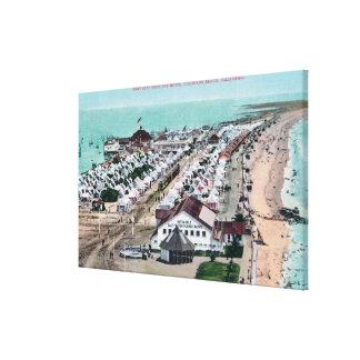 Vista aérea de la ciudad de la tienda del del Coro Impresiones En Lona Estiradas