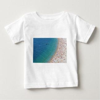 Vista aérea de la playa en Niza, Francia Camiseta De Bebé