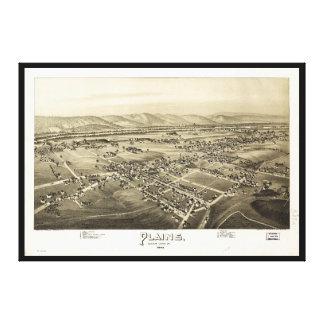 Vista aérea de llanos, Pennsylvania (1892) Lienzo