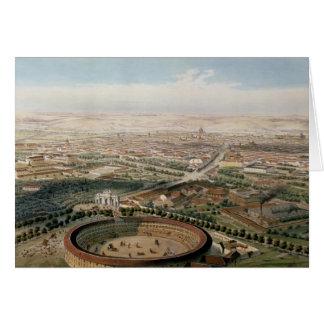 Vista aérea de Madrid de la plaza de Toros Tarjetón