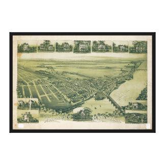 Vista aérea de Morrisville, Pennsylvania (1893) Lienzo
