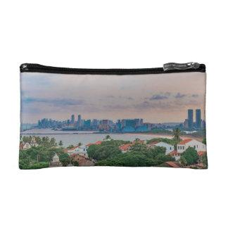Vista aérea de Olinda y de Recife Pernambuco el Bolso De Maquillaje