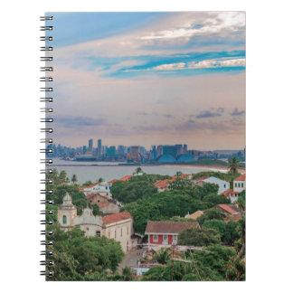Vista aérea de Olinda y de Recife Pernambuco el Cuaderno