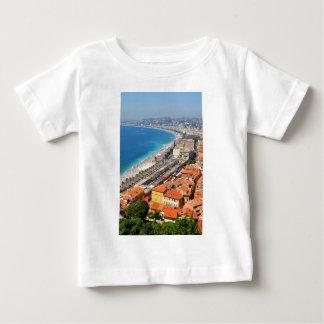Vista aérea de riviera francesa en Niza, Francia Camiseta De Bebé