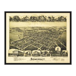 Vista aérea de Somerset, Pennsylvania (1900) Lienzo