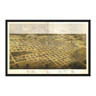 Vista aérea de Springfield, Illinois (1867) Lienzo