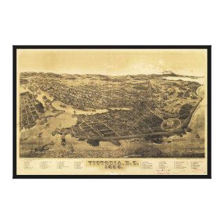 Vista aérea de Victoria, A.C., Canadá (1889) Impresión En Lienzo