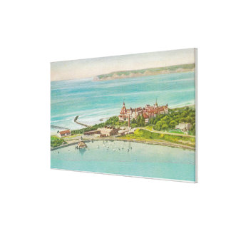 Vista aérea del del Coronado del hotel Impresión En Lienzo Estirada