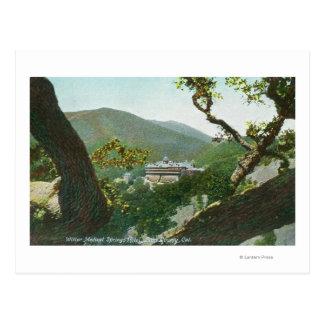 Vista aérea del hotel médico de las primaveras de postal