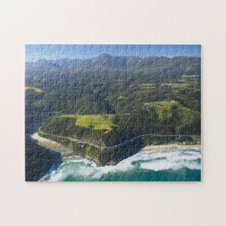 Vista aérea del río de Keurbooms, ruta del jardín Puzzle Con Fotos