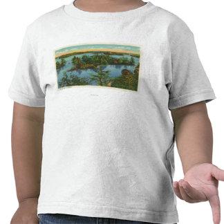 Vista aérea fuera del canal de la vista camisetas