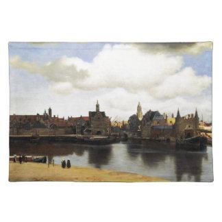 Vista de Delft de Juan Vermeer Manteles Individuales